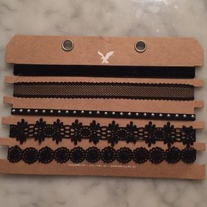 Set of 5 chokers. Never worn, perfect condition.